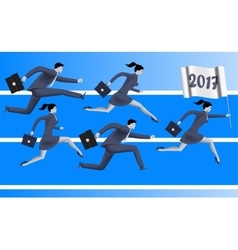 Running to year 2017 business concept vector
