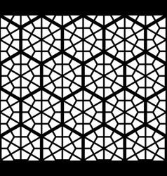 seamles geometric ornament based kumiko vector image