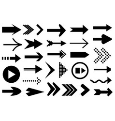 set of different arrows vector image