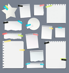 set of paper scraps and clean sheets vector image