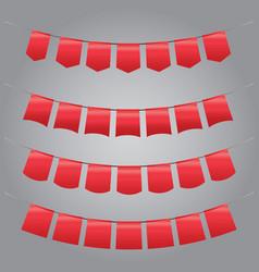 set of vintage red garland vector image