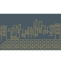 Silhouette of city outline vector