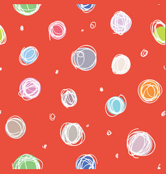 sloppy circles random doodle dots seamless pattern vector image