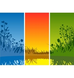 Small Lake and Grass vector image