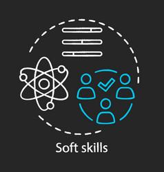 Soft skills chalk concept icon vector