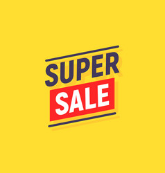 super sale banner poster background sale vector image