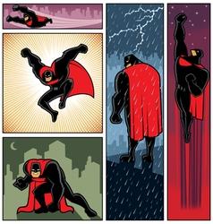 Superhero Banners 6 vector image