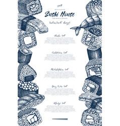sushi menu design vector image