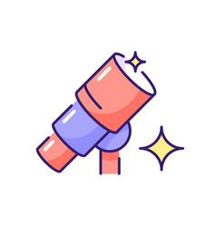 Telescope rgb color icon vector