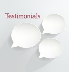 Testimonials vector