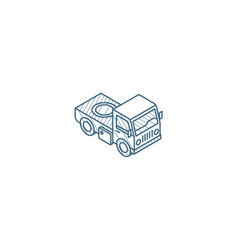 truck cab van body isometric icon 3d line art vector image
