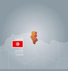 tunisia information map vector image