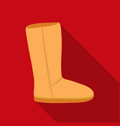 Ugg boots icon in flat style isolated on white vector