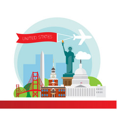 united states detailed silhouette vector image
