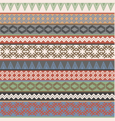 vintage ethnic geometric motifs background vector image