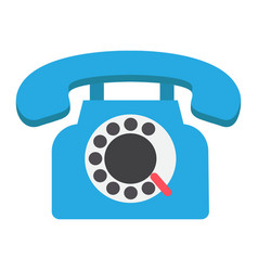 vintage phone flat icon contact us and website vector image