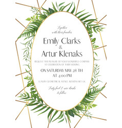wedding invite save date card design vector image