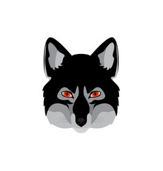 Werewolf head emblem vector