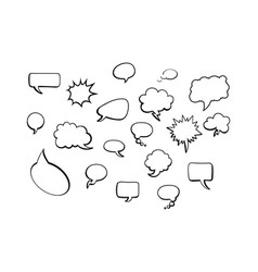 white comic speech bubbles on white background vector image