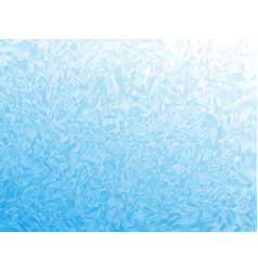 Winter blue frost background with copy space vector