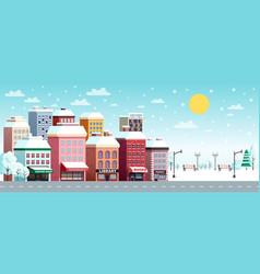 winter city horizontal banner vector image