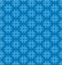Blue damask seamless pattern vector image