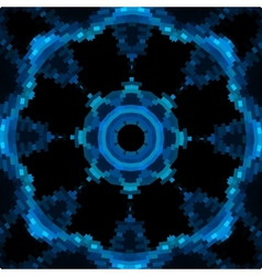Blue mandala like design in blue color vector image vector image