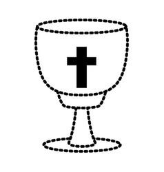catholic cross chalice vector image