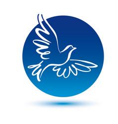 dove logo template concept logo vector image vector image