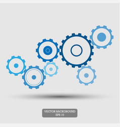 gears mechanical concept abstract background vector image vector image