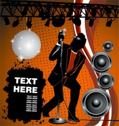 rock and house party vector image vector image