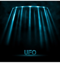 Ufo background vector