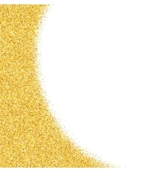 Abstract gold dust glitter star background vector image vector image