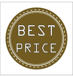Best Price Icon Badge Label or Sticke vector image vector image
