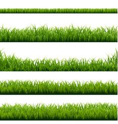 big set green grass borders vector image