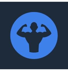 Bodybuilder Fitness Logo Icon vector image vector image