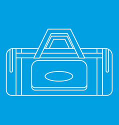 road bag icon outline style vector image vector image