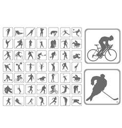 silhouettes athlete vector image vector image
