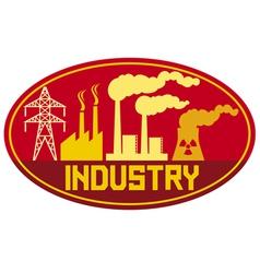 industry label vector image vector image