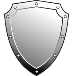 metal heraldic shield vector image vector image