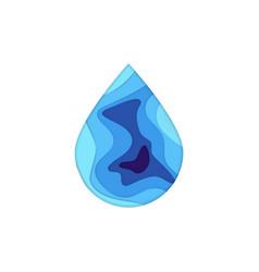 papercut water drop vector image vector image