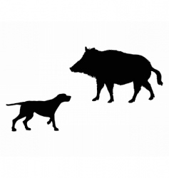 setter and boar animals vector image