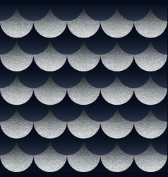 abstract seamless geometric pattern with silver vector image