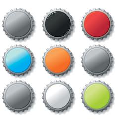 blank bottle caps vector image vector image