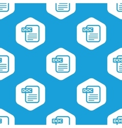 Doc file hexagon pattern vector image vector image