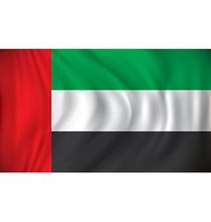 Flag of United Arab Emirates vector image vector image