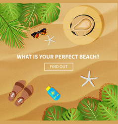 flat banner for summer travel vector image vector image