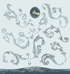 Hand-drawn ornate swirls set for decoration vector image