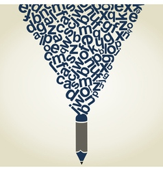 Letter a pencil vector image