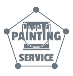painting service logo simple style vector image vector image